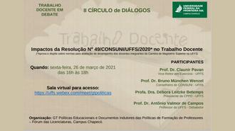Imagem do cartaz do evento com todas as informações a respeito, em fundo marrom claro.