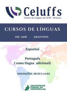 Cartaz de divulgação dos Cursos ofertados pelo CeLUFFS Realeza
