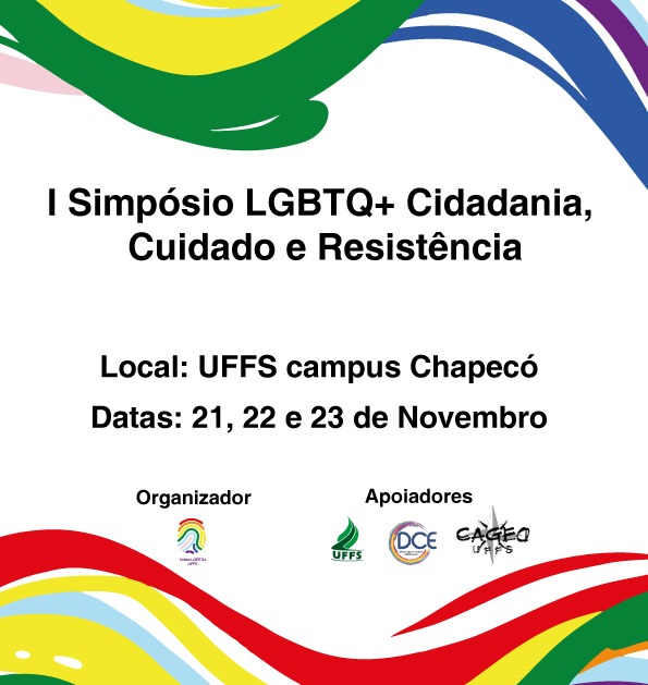 Cartaz com informações sobre simpósio LGBT+