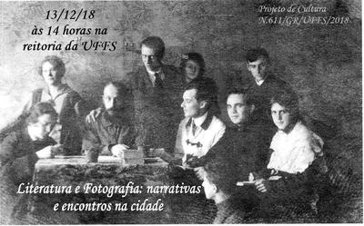 Informações sobre evento com imagem de grupo de pessoas