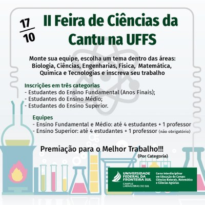 Ilustração da II Feira de Ciências Cantu na UFFS