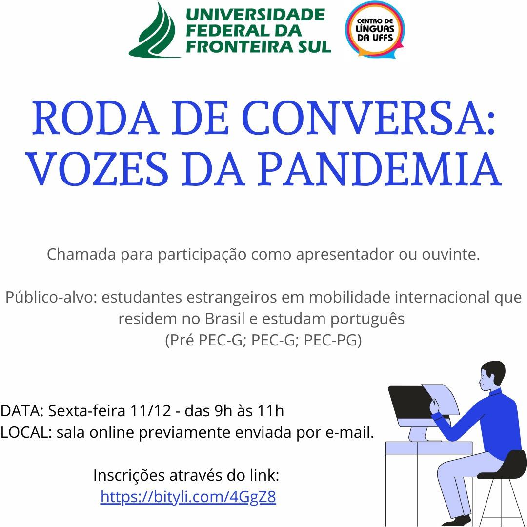 RODA DE CONVERSA: VOZES DA PANDEMIA