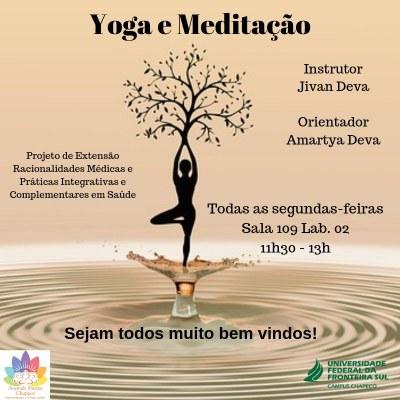 yoga e meditação no campus Chapecó