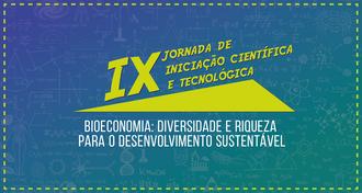 Cartaz com informações sobre a IX edição da JIC