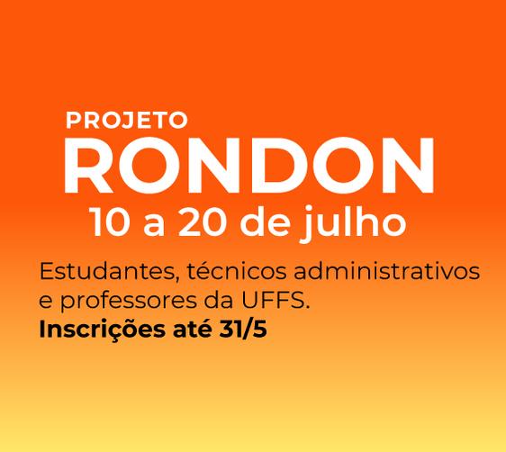 Cartaz com informações sobre operação rondon nacional