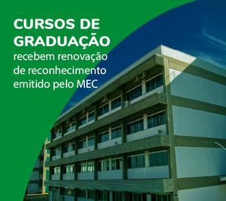 Cartaz com informações renovação cursos de graduação
