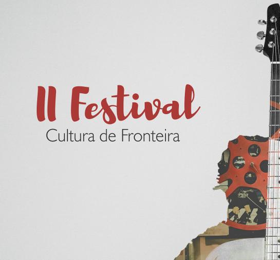 Cartaz com informações sobre evento festival cultura de fronteira