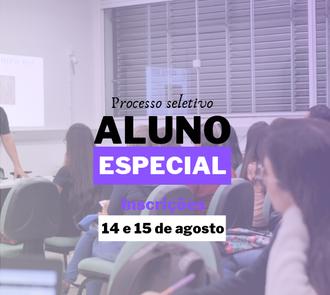 Processo seletivo aluno especial da graduação 2019