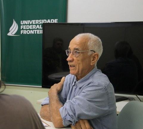 Sebastião Pinheiro concede entrevista na UFFS