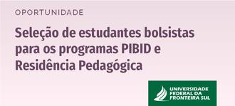 Cartaz com informações sobre seleção de estudantes Pibid