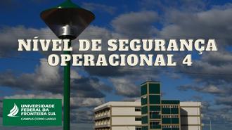 Cartaz com informações NSO 4 Cerro Largo
