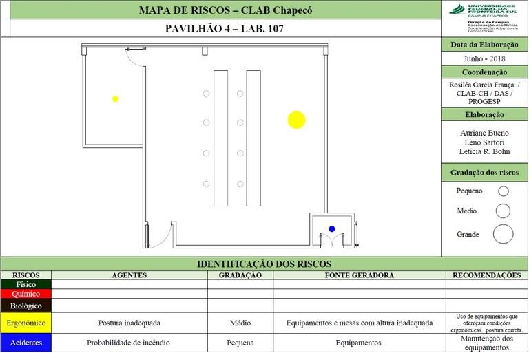 Mapa de Riscos - Lab. 107 - Bloco 04