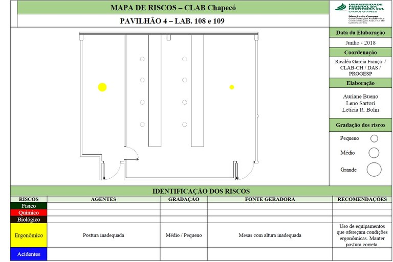 Mapa de Riscos - Lab. 108 - Bloco 04