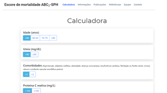 Imagem da calculadora no site
