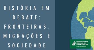 Imagem com fundo azul, com o nome do evento e, à direita, um desenho da Terra. Abaixo, a marca da UFFS - Campus Chapecó