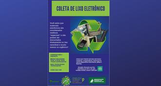 Cartaz da campanha do lixo eletrônico