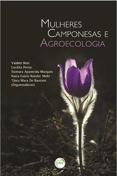Capa do livro é preta com arbustos na parte inferior e uma flor lilás ressaltada com um contorno branco