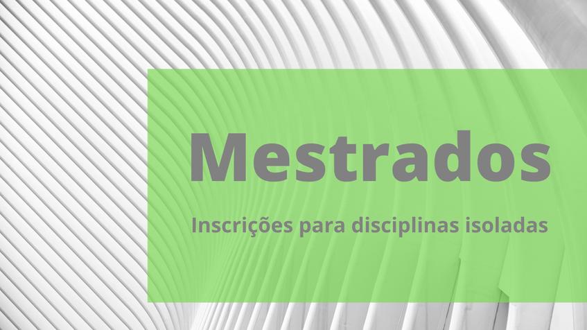 card disciplinas isoladas mestrados