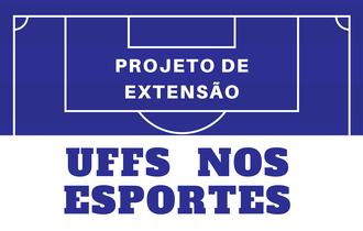 Na parte superior da imagem as linhas de uma quadra de esportes e, incorporada a imagem o título do projeto.