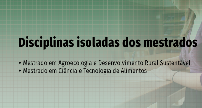 Imagem contendo nome dos mestrados ofertados no Campus Laranjeiras do Sul