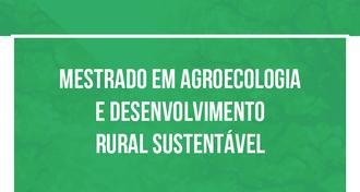 Imagem contendo o nome do Mestrado em Agroecologia e Desenvolvimento Rural Sustentável, com fundo verde.