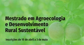 Mestrado em Agroecologia e Desenvolvimento Rural Sustentável