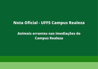 Nota Oficial - Animais Errantes