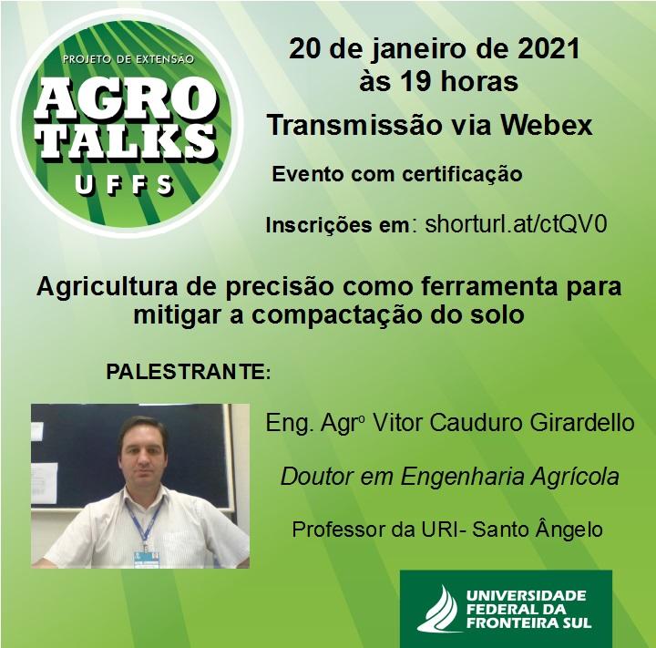 Agro Talks UFFS- Palestra sobre agricultura de precisão