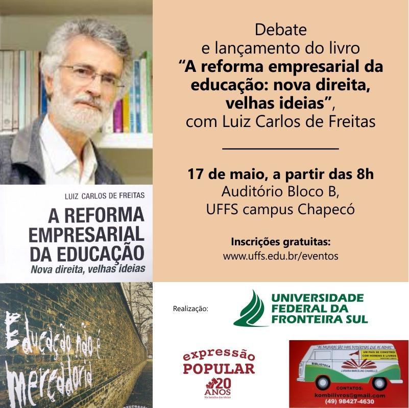 Card Debate e lançamento do livro Luiz Carlos de Freitas