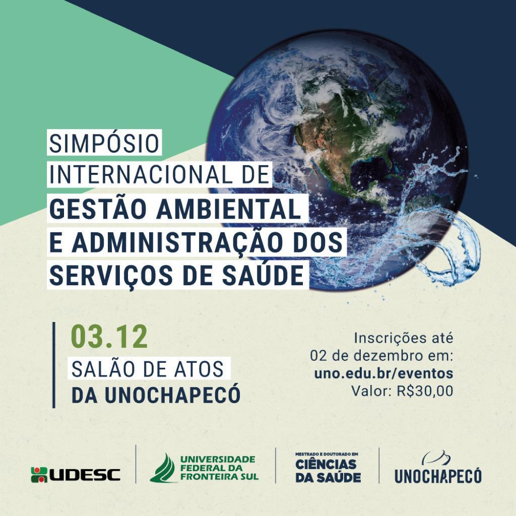 Cartaz com informações relativas ao evento Simpósio Internacional de Gestão Ambiental