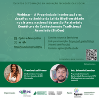 Eventos de Formação em inovação tecnológica e social - Webinar