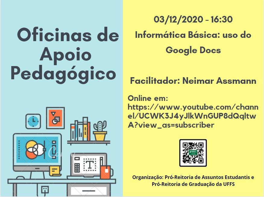 Oficina de Apoio Pedagógico: Informática básica: uso do Google Docs.