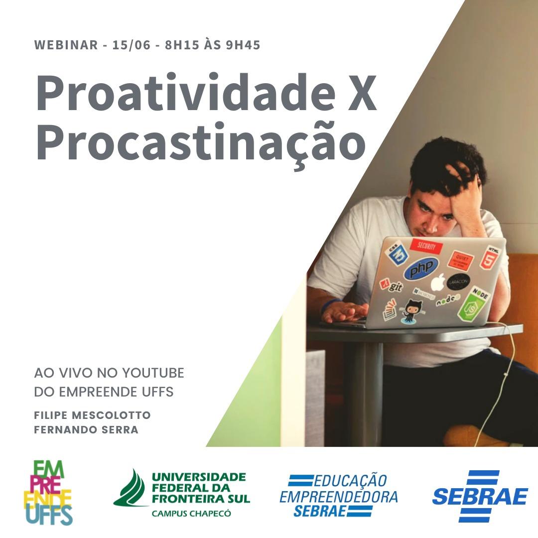 Webinar: Proatividade x Procrastinação