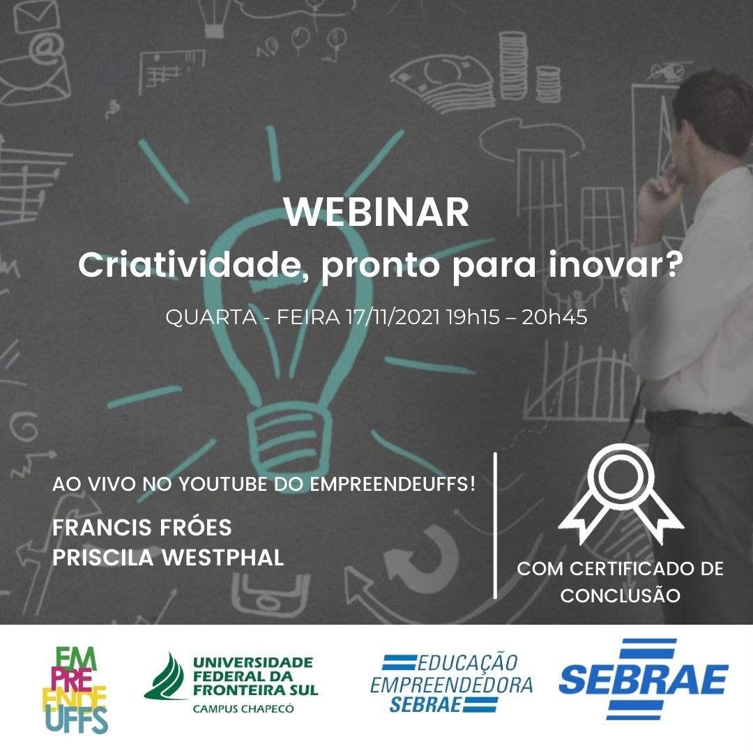 Webinar: Sonhos - Criatividade, pronto para inovar?