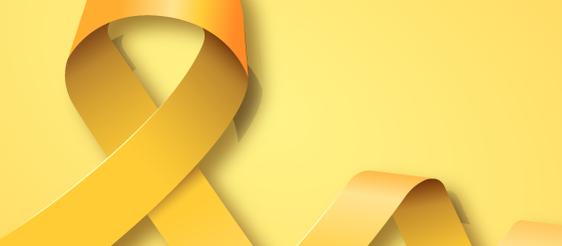 imagem com um laço amarelo e o fundo amarelo