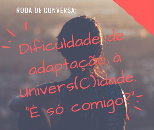 Cartaz com informações sobre Roda de Conversa com estudantes do Campus Chapecó